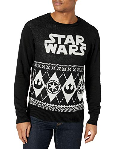 Star Wars Men's Ugly Christmas Sweater, Black, Small