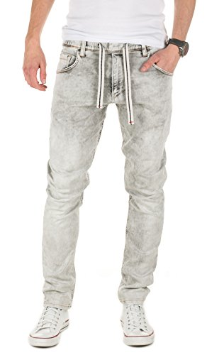 Yazubi Herren Sweathose in Jeansoptik Steve - Jogginghose in Jeans-Look, Grey (11745), W28/L34
