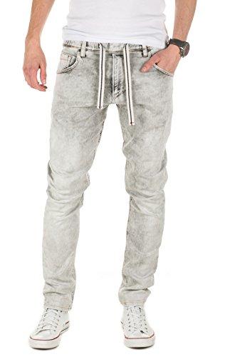 Yazubi Herren Sweathose in Jeansoptik Steve - Jogginghose in Jeans-Look, Grey (11745), W29/L34