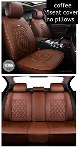 LUOLONG Auto-Sitzabdeckung, (Vorne + Hinten) 5Seats Universal-Auto-Sitzabdeckung Für Subaru Forester/Xv/Impreza/Vermächtnis/Leone/Outback/Levorg/Tribeca/Heritage, 5Seats Kaffee
