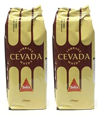 Delta Cevada 250g   Roasted and Ground Barley   Caffeine Free (Pack of 02)