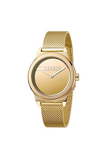 Esprit Damen Analog Quarz Uhr mit Edelstahl Armband ES1L019M0085
