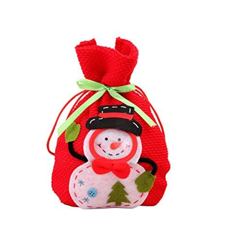 BESTOYARD Kerstmis Snoep Tassen Draagbare Handtas Gift Bag Kerst Party Favor