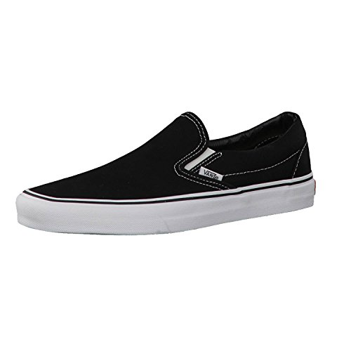 Vans Unisex-Erwachsene Classic Slip-On Low-Top, Schwarz (Black/Black BKA), 43 EU