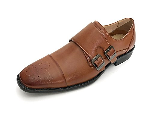 Easy Strider Mens Double Monk Strap Dress Shoes Regular and Big & Tall Sizes