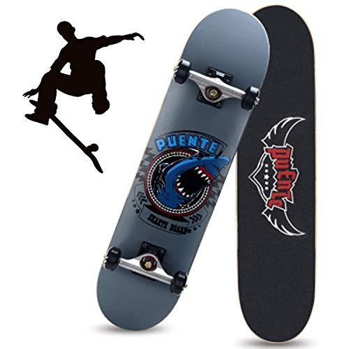 Grist CC Monopatín Skateboards Retro 95A Ruedas Madera de Arce ABEC-7 Rodamiento Skateboard