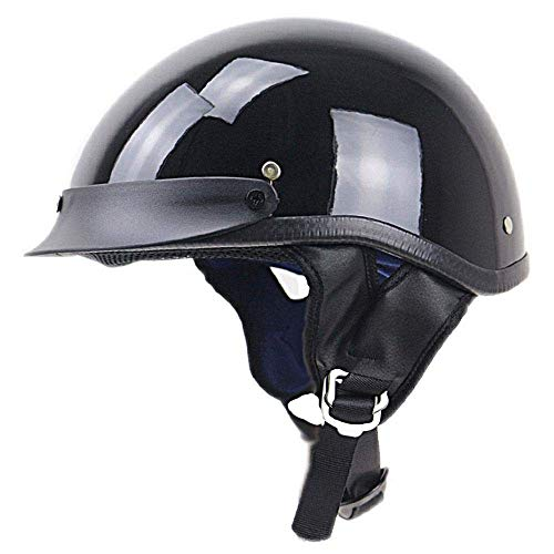 MTTKTTBD Retro Casco Moto Abierto,ECE Homologado,Profesional Half Moto Cascos Helmet para Mujer y Hombre,Adultos Confortable Casco Moto Jet para Street Bike Cruiser Chopper Moped Scooter