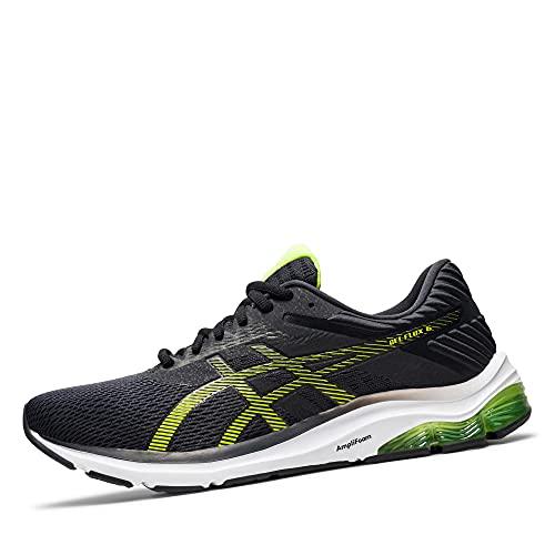 ASICS 1011A856 Gel-Flux 6 - Zapatillas de correr para hombre (transpirables, malla amortiguadora, talla grande), gris antracita verde., 43.5 EU
