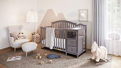 Great Price! AFG Kali 4-in-1 Crib with Changer Grey