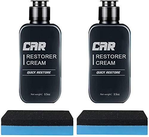 LYLJ Restauración rápida de la Crema del restaurador del Coche,Cuidado de Vinilo y Caucho, Limpiador de salpicaderos,Agente de reparación de reacondicionamiento de plástico para automóviles (2PCS)
