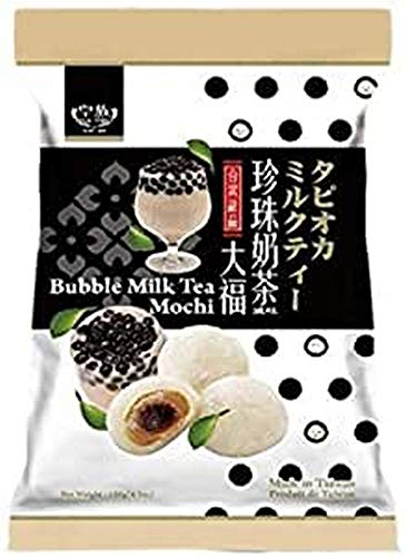 Royal Family Big Mochi, japanese mochi candy dessert rice cake (Bubble Milk Tea, 1 ct) by Royal Family