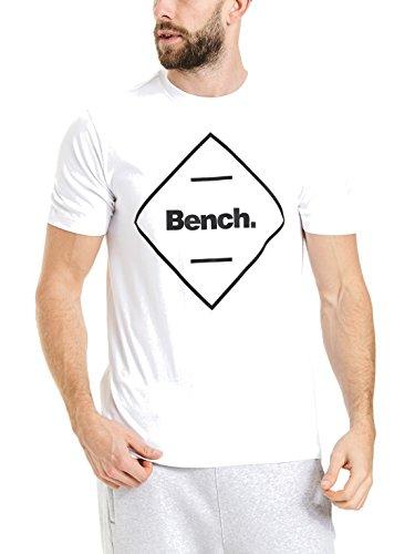 Bench Herren Corp Tee T-Shirt, Weiß (Bright White Wh11185), Medium