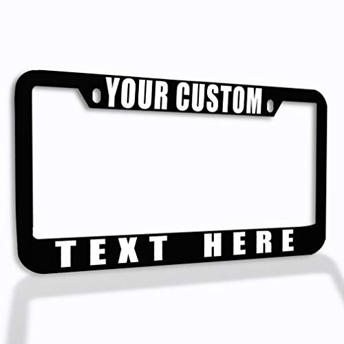 Speedy Pros Funny License Plate Frame Custom Personalized Text Zinc Cute Car Accessories License Plate Holder Black 2 Holes 1 Frame