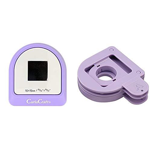 【セット買い】カール事務器 クラフトパンチ メガジャンボ スクエア 25×25mm CN45002 & クラフトパンチ スロットガイド CP-AG