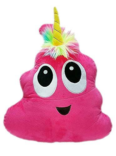 Pink Poo-Nicorn Emoji Pillow, The P…