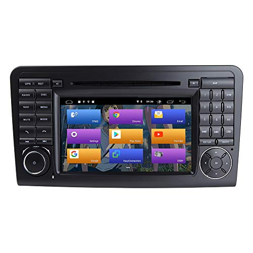 BOOYES para Mercedes Benz GL ML Class W164 X164 ML300 ML320 ML350 ML450 ML500 GL320 GL350 GL420 GL450 GL500 Android 10.0 Car Radio Stereo GPS 7'Car DVD Player Car Auto Play/TPMS/OBD/Dab/Mirror Link