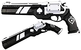 SACOTOY Foam Gun Ace of The Spades Hand Cannon Prop Classic Ornament Free Banner Does not Shoot Gift Xmas Game Anime