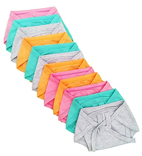 Sunuo Washable Reusable Multicolour Hosiery Cotton Diapers,Nappy,Langot for New Born Baby (0-6 Months,Pack of 10)
