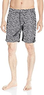Onia Men's Calder 7.5 Inch Italian Print Swim Trunk White/Black 33 [並行輸入品]