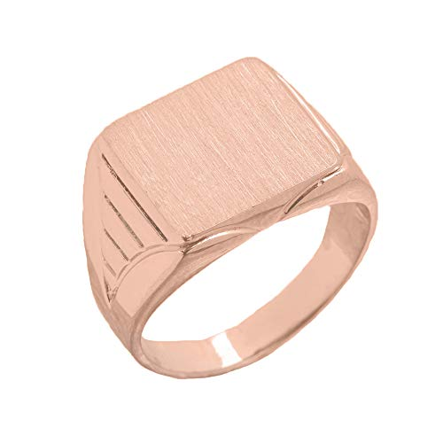 Copy of C Men's Engravable Oval Signet Ring in Rose 9 ct Gold HII