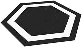 10 pcs chambre carrelage autocollants imperméable antidérapant créatif stickers muraux noir et blanc décoration de la mais...