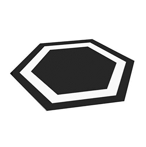 10 pcs chambre carrelage autocollants imperméable antidérapant créatif stickers muraux noir et blanc décoration de la maison monolithique taille: 20 *