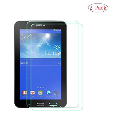 szjckj 2 Piezas Protector de Pantalla para Samsung Galaxy Tab 3 Lite 7.0' SM-T110 Tablet, Cristal Vidrio Templado Protector [HD 0.26mm] [9H Dureza] [Anti-Aceite] [A Prueba de rayones]