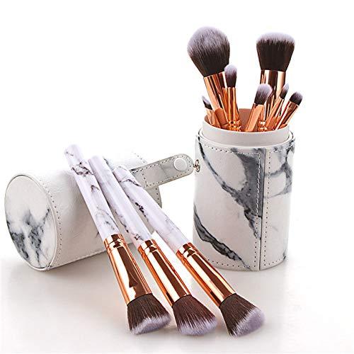 LinZX 10PCS Brosse de Maquillage, Trousse de Maquillage cosmétiques,10PCS Bucket Brush