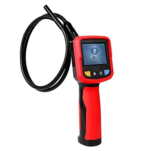 検査カメラ、内視鏡検査カメラ、2.4インチスクリーン1M産業用ボアスコープスネークカメラ充電式バッテリー、防水セミリジッドケーブル、LEDライト