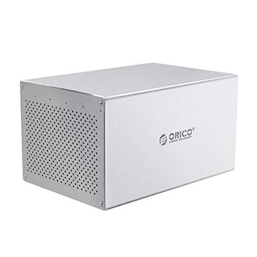 ORICO 5 Bay Hard Drive Enclosure 3.5inch Raid USB3.0 to SATA Aluminum External HDD/SSD Storage Drive Enclosure Screw Installtion Data Safe Protection for Enterprise Backup Up to 80TB(5x16)-WS500RU3