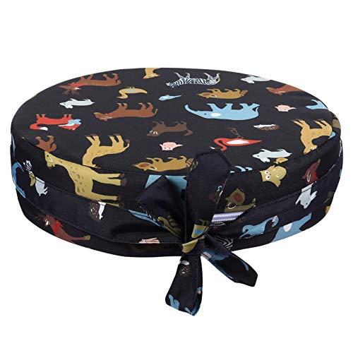 STOBOK Assento de Criança Com Estampa de Animal Cadeira de Jantar Aumento de Almofada Redondo Assento de Criança de Assento de Criança para Refeição Portátil Viagem Aumento de Almofada
