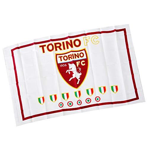 Giemme articoli promozionali - Bandiera Poliestere Bianca 140X90 Cm Torino Calcio Toro Idea Regalo
