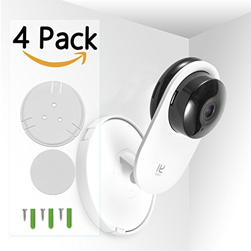 imluck 4Pack For Yi home Wall Mount for Yi Home Camera, with 360 degree swivel to secure YI 1080p/720p Home Camera