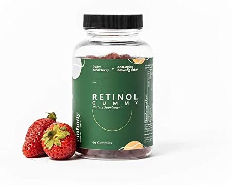 The Retinol Gummy Vitamin A Gummy Supplement for Anti Aging Acne Clear Skin Strawberry Flavor product image