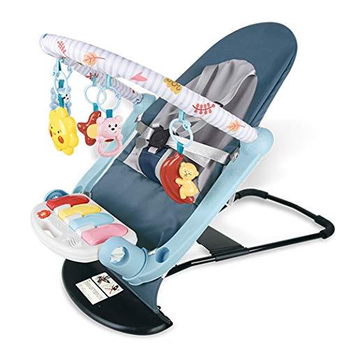 JCSW Balancin Bebe Columpios Infantiles, Vibraciones Relajantes, Hamaca Bebe con Sistema Balancín y Reductor, Cosas para Bebes Columpio Bebe de 0 a 18 kg, Azul, g005jy (Color : Blue)