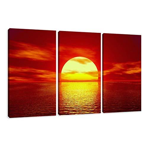 Visario Leinwandbilder 1094 Bilder auf Leinwand Sonnenuntergang / Sonnenaufgang, 150 x 90 cm