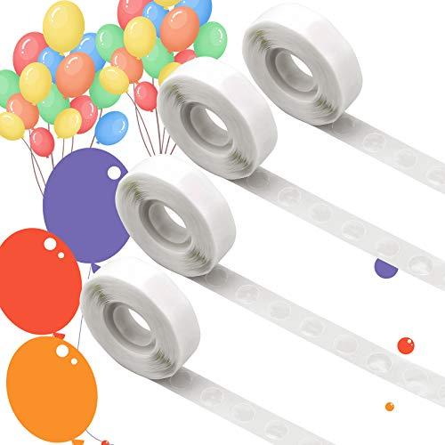 AIEX 4 Rotoli / 1000 Pezzi Punti di Colla, Punti Adesivi Rimovibili con Colla per Palloncini, Punti Biadesivi di Nastro Adesivo per Decorazioni per Feste e Matrimoni