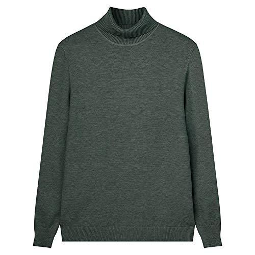 Suéteres De Color Sólido De Marca para Hombre, Suéter Delgado De Cuello Alto A La Moda para Hombre, Suéter...