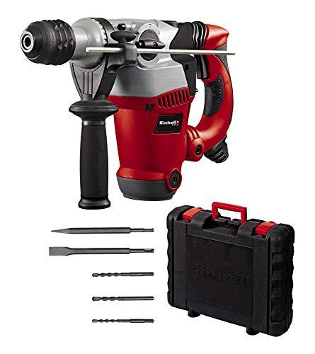 Einhell Martillo perforador RT-RH 32 (1250 W, 3,5 J, capacidad de perforación Ø 32 mm, soporte SDS-Plus, tope de profundidad metálico, 3 brocas, 2 cinceles, maletín)