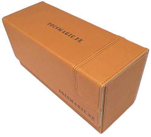 docsmagic.de Premium Magnetic Tray Long Box Oro Small - Card Deck Storage - Caja Oro
