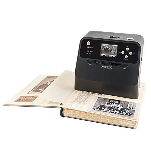 Jendigital 4in1 Scanner mit Zubehoer Set | Multiscanner für Fotoalben, Bilder/Fotos, Dias und Negative | kein PC oder Software nötig