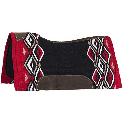 Tough1 Pachanga Contour Wool Saddle Pad Red/Black