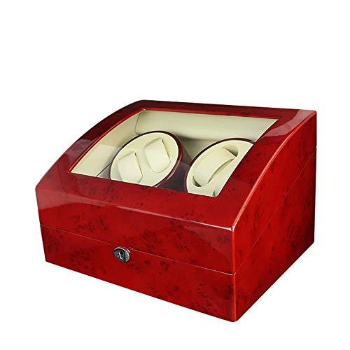 LUYIYI Automatische Holz Uhrenbeweger Display Box 4 + 6 Speicher