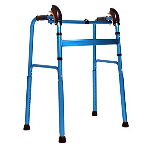 Sin Ruedas, Andador, Cuidado De La Salud Plegable, Aluminio Ligero, Marco para Caminar, Anciano, Discapacitado, Soporte para Ejercicios