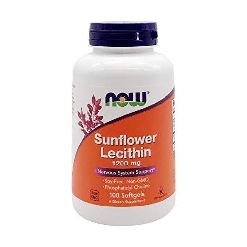 Now Foods La lecitina de girasol, 1200 mg - 100 cápsulas 100 Unidades 240 g
