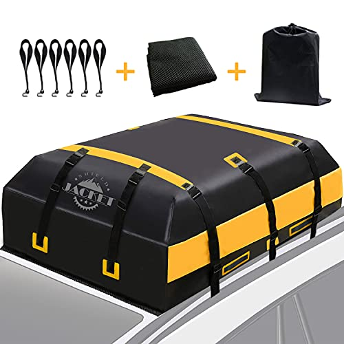 SHIELD JACKET Car Rooftop Cargo Carrier (15 Cubic Feet) - Waterproof Rooftop Bag for Cars, Vans and...