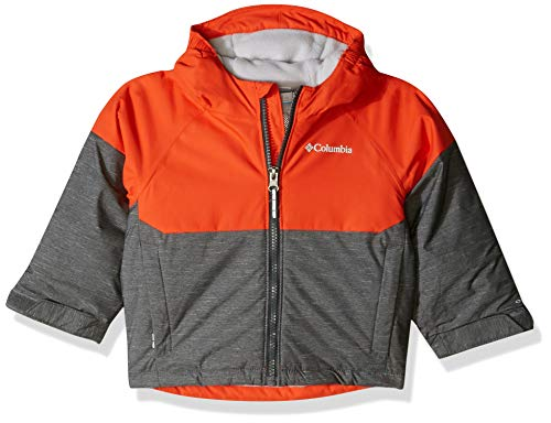 Columbia Boys Alpine Action Ii Jacket, Grill Heather, State Orange, 2T