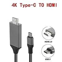 NELLUSB 3.1 タイプ C hdmi 4 18K/1080 1080P アダプタケーブル 2 メートルタイプ C hdmi ケーブル macbook の銀河 S9/S8/注 9 Huawei 社 USB-C HDMIノート用紙