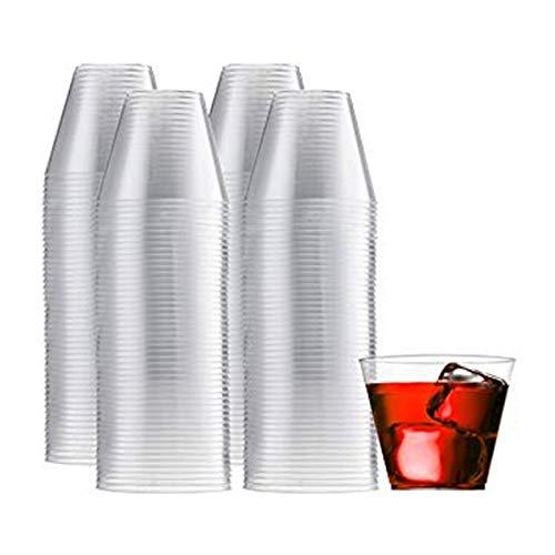 NIUPAN 9oz transparante plastic beker 50 sets wegwerp hard plastic wijnglas cocktailglas feest plastic beker