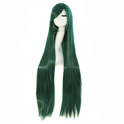 """MapofBeauty 40"""" 100cm Anime Costume Long Straight Cosplay Wig Party Wig (Pine Green)"""